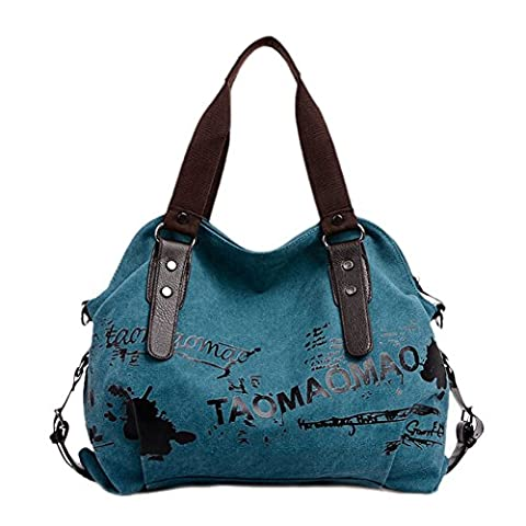GGTFA Fashion Canvas Letters Graffiti Shoulder Bag Top Handle Handbag