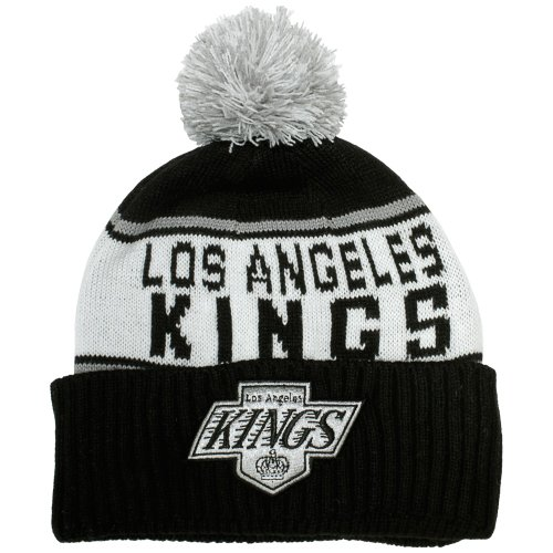 Mitchell & Ness - Bonnet Homme Los Angeles Kings Wordmark Cuff Knit - Black