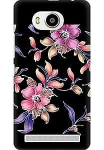 AMEZ Lenovo A7700 High Quality Printed Back Case (Flowers Dark Pattern)