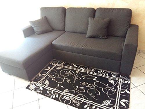 Parure scendiletto 3 pezzi - tappeto retro' nero - in ciniglia con sottofondo antiscivolo - arreda la tua camera da letto - lavabile in lavatrice - pratico e comodo