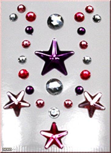 Juwelen-Steine rot rosa lila (Juwel Kostüme)