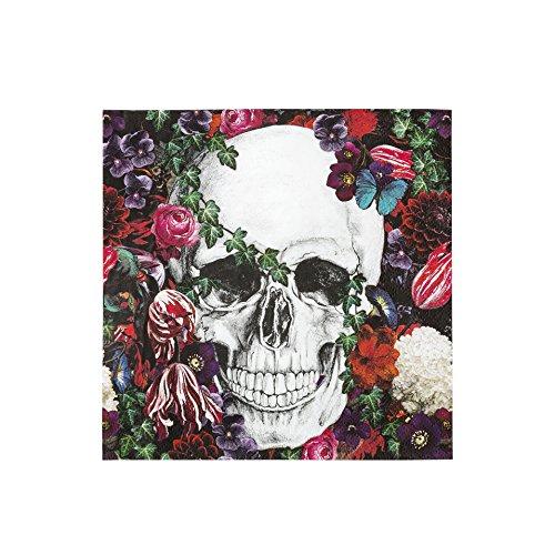Talking Tables BQSKEL-Napkin Skeleton Baroque Serviette Papier, Multicolore, 0,02 x 0,17 x 0,17 cm
