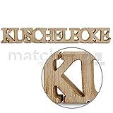 matches21 Deko Schriftzug Kuschelecke Holz 3D Deko-Buchstaben gesägt zum Stellen / Hängen 59x2x8 cm