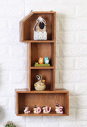 Tang chao mensola armadietti da salotto appendiabiti da parete in legno retro creativo ripiani (colore : c)