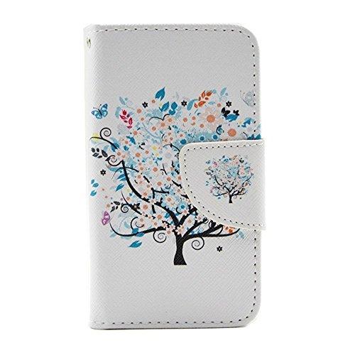 HUANGTAOLI Protettiva Flip Case Cover per Apple iPhone 4 4S 4G C100