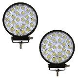 Barra de iluminación con focos LEDs para vehículos SUV coche, camión, remolque, todoterreno, remolcador, barco, de Yunt CREE (72W, 12V-24V)