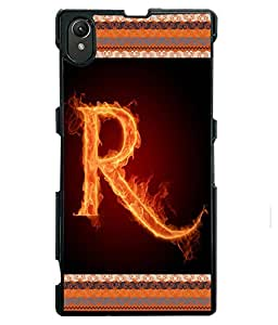 Fuson 2D Printed Alphabet R Designer back case cover for Sony Xperia Z1 - D4208