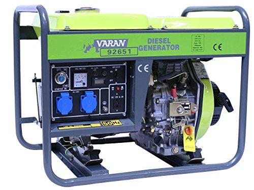 Varan Motors 92651 GENERATOR STROMERZEUGER STROMAGGREGAT NOTSTROMAGGREGAT 3,3kW 230V+12V DIESEL