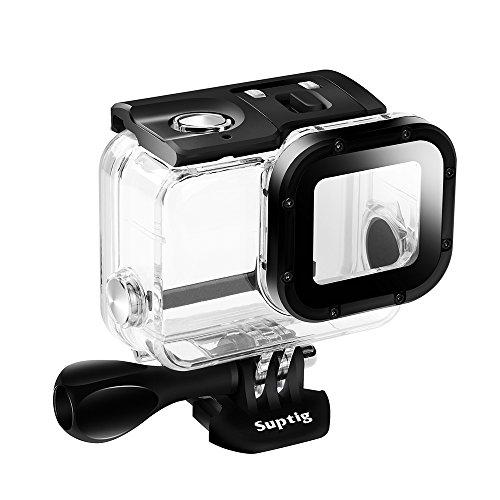 Galleria fotografica Suptig di ricambio, custodia impermeabile alloggiamento protettivo per GoPro Hero 6GoPro Hero 5sport fotocamera per uso subacqueo ricarica resistente all' acqua fino a 50m (50M)