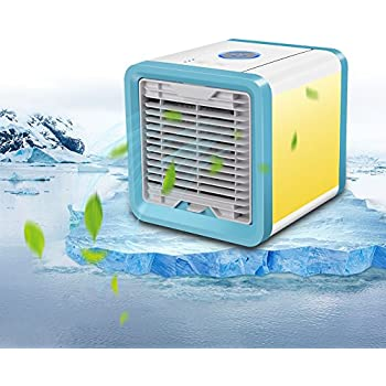 Climatiseur Mobile Ventilateur USB Portable Refroidisseur D'air Personnel Puissant pour Bureau Voiture Chambre Couche … (Blanc)