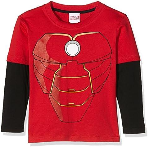 Iron Man T-shirt Costume - Marvel Aa-Iron Man Costume-Kids L/S, T-Shirt Garçon,