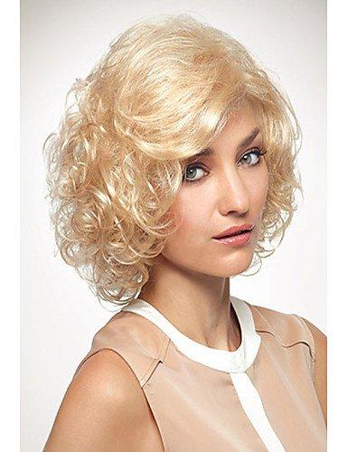 YLE Lady Style Capless Mode mittleren lockigen blonden synthetische Perücke Europa und die Vereinigten Staaten ()