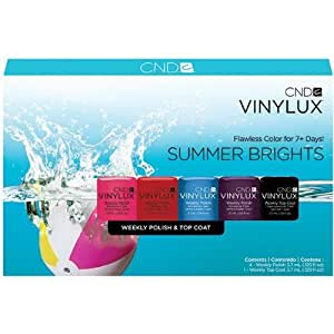 CND VINYLUX Summer Brights - Set of Five 3.7ml Mini bottles