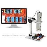 KKmoon USB Portable Microscope OTG Fonction 8LED Zoom Numérique Loupe avec Support Véritable 5.0MP Caméra Vidéo 1X-500X Grossissement 0-4cm Focus