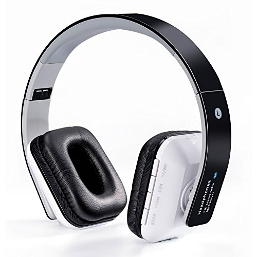 WanEway B-02 Cuffie Stereo Senza Fili Bluetooth - Circumaurale con Microfono Incorporato e Batteria Ricaricabile, Radio FM, Compatibile con iPhones, Samsung, Galaxy, Nokia, HTC, Blackberry, Google, LG, Nexus, iPad, Tablet, Telefonini, Smartphones, PC's, Laptops etc