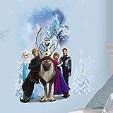 Hochwertiger Wandtattoo Tattoo Wand - Frozen - Elsa - Eiskönigin - Anna - Olaf - Sven - künstlerisch mit außergewöhnlichem Design macht die Wand zu einen echten Blickfang