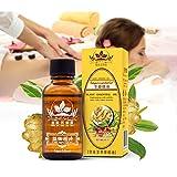 Aceite Esencial Jengibre - 60ml - 100% Puro Drenaje linfático Aceite de jengibre, para la aromaterapia y como aceite base para masajes (30 ml ×2)