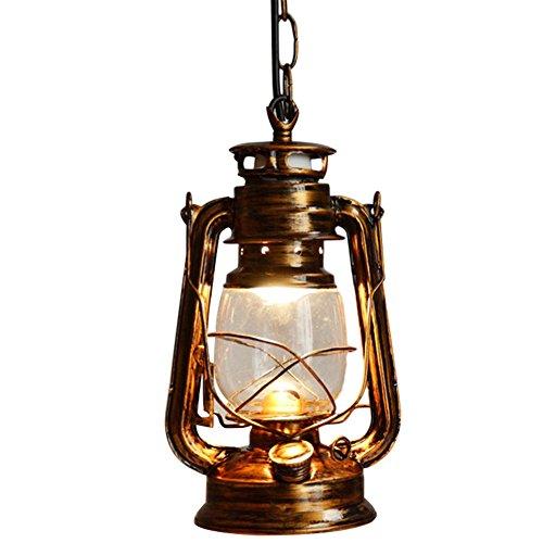 Bronze Bar (Chendongdong Edison Industrielle Retro Rustikal Vintage LED Pendelleuchte Hängeleuchte für E27 Leuchtmittel Lampenfassung Deckenleuchte Ceiling Einzel Lampe für Restaurant, Bar, Café 60W Bronze)