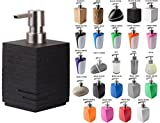 Seifenspender, viele schöne Seifenspender zur Auswahl, hochwertige und stabile Qualität (Calero Black)