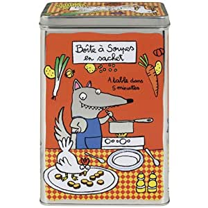 Boite à soupes en sachet, Derrière la porte