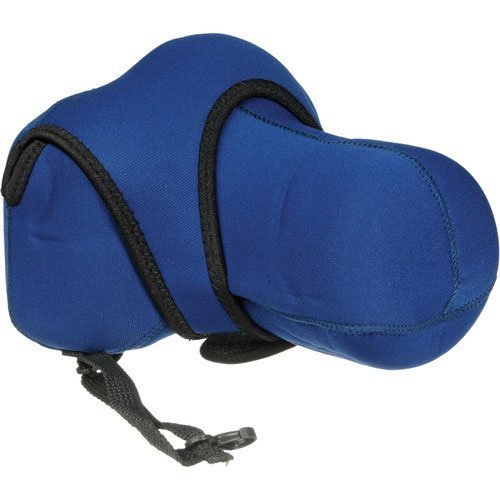Zing Blue 520-202 Large Neoprene Camera Case for DSLR Cameras with Zoom Lenses (18-135mm or 55-200mm)