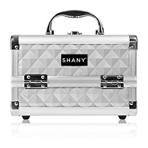 Shany Cosmetics Silver Makeup Train Case with Mirror
