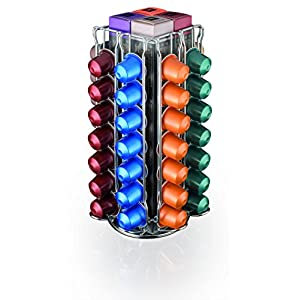 MACOM Just Kitchen 837 Totem Coffee Nespresso Dispenser Portacapsule per Macchine Caffè, 56 capsule, acciaio cromato