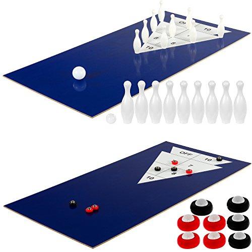 Maxstore Multigame Spieletisch Mega 15 in 1, inkl. komplettem Zubehör, Spieltisch mit Kickertisch, Billardtisch, Tischtennis, Speed Hockey uvm. in schwarzem Holzdekor - 6