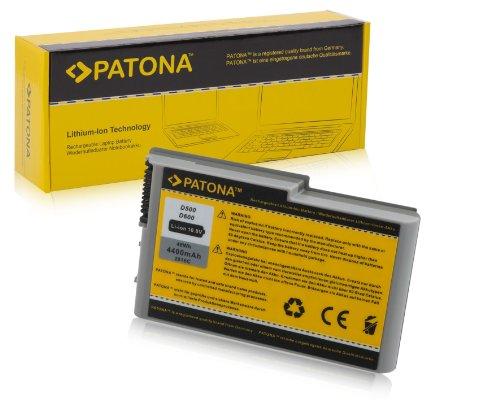 PATONA Laptop Akku für DELL Inspiron 500M | 505M | 510M | 600M - Latitude D500 | D505 | D510 | D600 | D610 - Precision M20 - | 312-0191 [ Li-ion; 4400mAh; schwarz ]