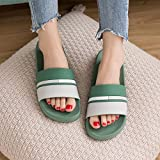 NIGHT WALL Slides,Ladies'Summer Slippers, Men's Indoor Sandals, Lovers' Home Cartoon Softsole Sandals,Green,43