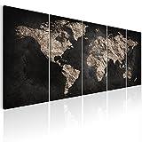 murando - Bilder Weltkarte 200x80 cm Vlies Leinwandbild 5 TLG Kunstdruck modern Wandbilder XXL Wanddekoration Design Wand Bild - Welt Karte k-A-0296-b-m