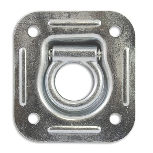 Docks gmar49Ring Zurrgurt Einbauleuchte, viereckig, verzinkter Stahl, grau, 25mm -