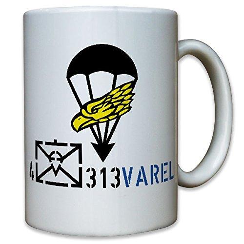 4 Kp FschJgBtl 313 4. Kompanie Fallschirmjägerbataillon 313 Varel Fallschirmjäger Fallschirmspringer Wappen Abzeichen Emblem Bundeswehr BW - Tasse Kaffee Becher (Uniform Fallschirmjäger)
