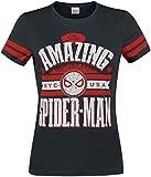 Spider-Man Amazing T-Shirt Manches Courtes Noir S