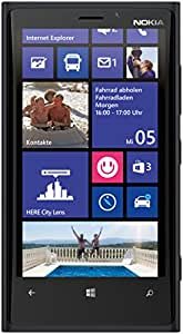 Nokia Lumia 920 Smartphone (11,4 cm (4,5 Zoll) WXGA HD IPS LCD Touchscreen, 8 Megapixel Kamera, 1,5 GHz Dual-Core-Prozessor, NFC, LTE-fähig, Windows Phone 8) matt black