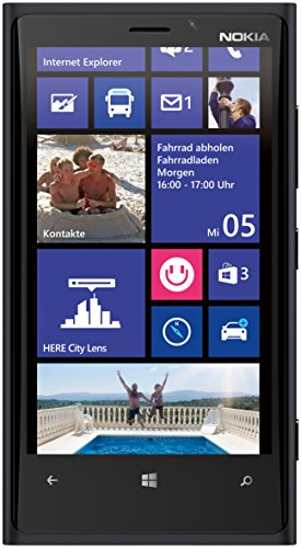 Nokia Lumia 920 Smartphone (11,4 cm (4,5 Zoll) WXGA HD IPS LCD Touchscreen, 8 Megapixel Kamera, 1,5 GHz Dual-Core-Prozessor, NFC, LTE-fähig, Windows Phone 8) matt black