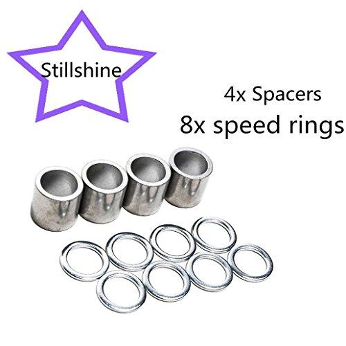 Bearing spacers and speed rings für skateboard longboard mountainboard truck -