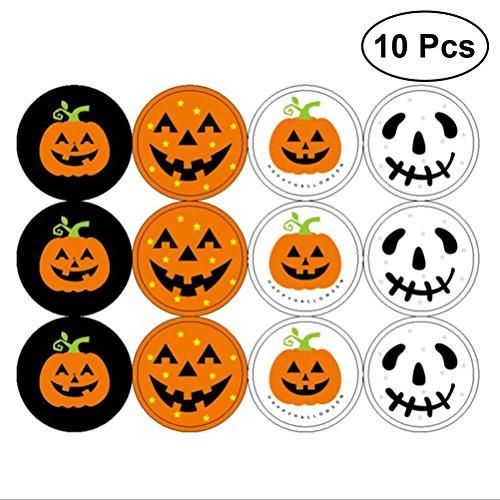 BESTOYARD 120pcs Halloween Kürbis-Aufkleber Verzierungen für Kinder Basteln Projekte Kartenherstellung Scrapbooking Dekoration