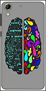 Snoogg Logic And Creative Brain 2412 Designer Protective Back Case Cover For HTC Desire 728