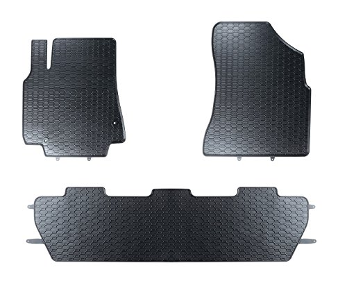 AME Auto-Gummimatten in schwarz und Wabendesign, Geruch-vermindert und passgenau mit verbauten Befestigungen 845/3C