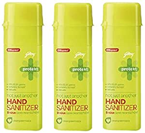 Godrej Protekt Not Just Another Hand Sanitizer - 90 ml (Pack of 3)