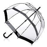 Fulton Birdcage-1 durchsichtige Kuppel Regenschirm mit schwarzem Rand