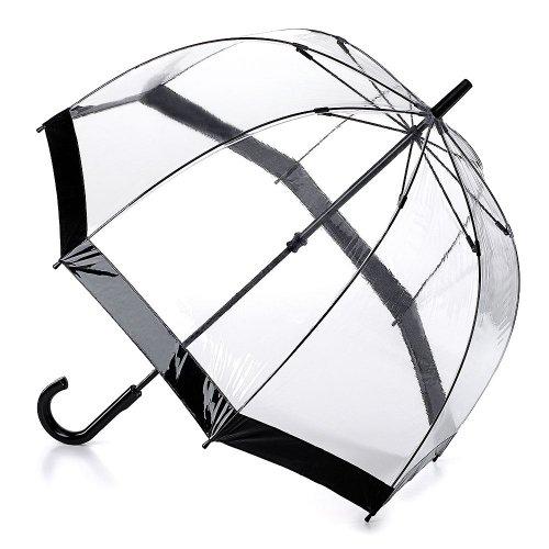 Fulton Birdcage-1 clara paraguas cúpula borde negro
