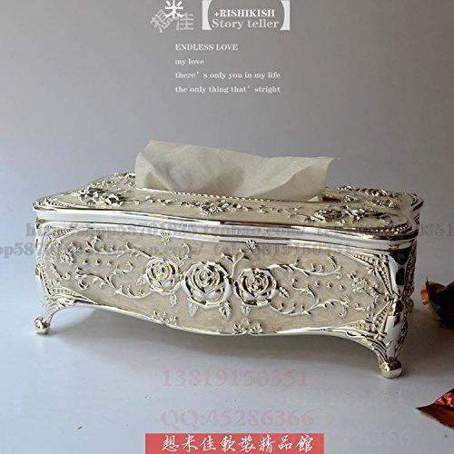 COLLECTOR Tessuto casella stile creativo americano pastorale libro casella high-end lusso casa decorazione ornamenti matrimonio compleanno,Argento gocce di colla bianca