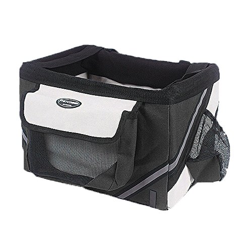 51%2B8w8tyJhL BEST BUY #1Yuno Dog Carrier Bicycle Portable Box Basket Bike Bag Convenient Car Seat Mini Trailer Part Pet Cat Puppy Small Pets Tote for Outdoor Travel Hiking Black price Reviews