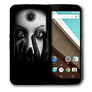 Snoogg Lady Eyes Printed Protective Phone Back Case Cover For LG Google Nexus 6