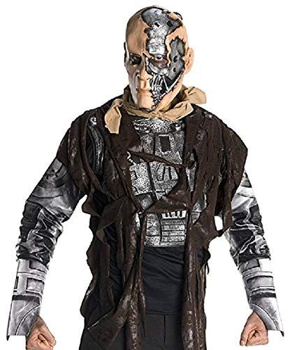 R889144-XL grau-schwarz Herren T-600 Halloweenkostüm Gr.XL (Terminator T600 Kostüm)