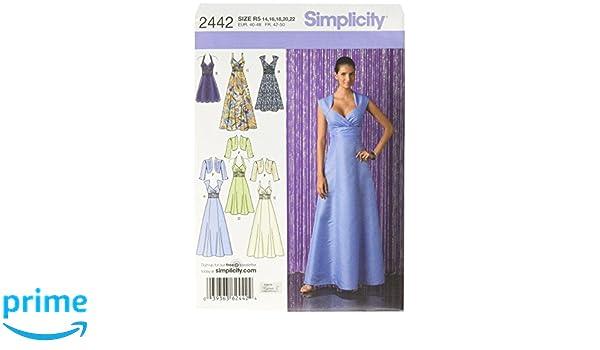 Simplicity Schnittmuster 2442 festliche Kleider, Gr. 44-52: Amazon ...