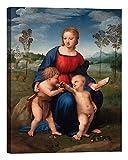 DìMò ART Quadro stampa su tela con telaio in legno Raffaello Madonna del cardellino misura 40x30 CM