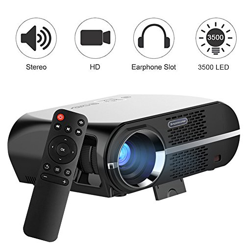 Best Price Vprawls LED Projector 1800Lumens 1080p Mini Video Projector GP100 Review